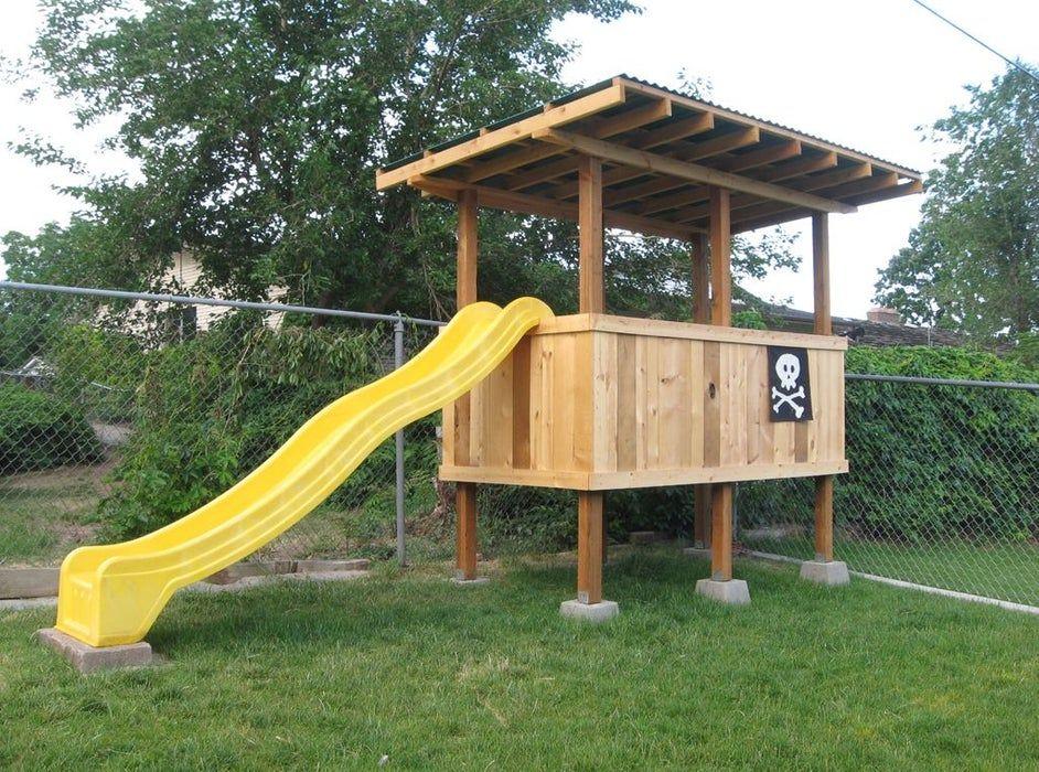 How to Build a Treeless Tree House   Backyard fort, Tree ...