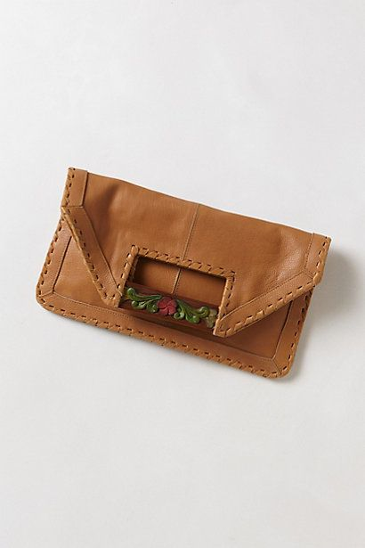 Azure Lotus Clutch #anthropologie - I LOVE THIS! Ohhh man I need some $...