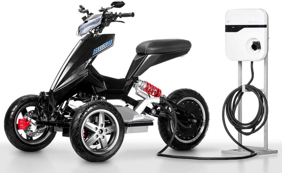 Sway Lithium Un 3 Roues électrique 100 Fun Scooter électrique Bicyclette Motorisée Roue
