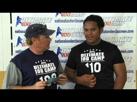 Nuc Junior Berry Sophomore Offensive Line Mvp 2012 U100 Midwest Football Camp Football Camp Football Recruiting Football