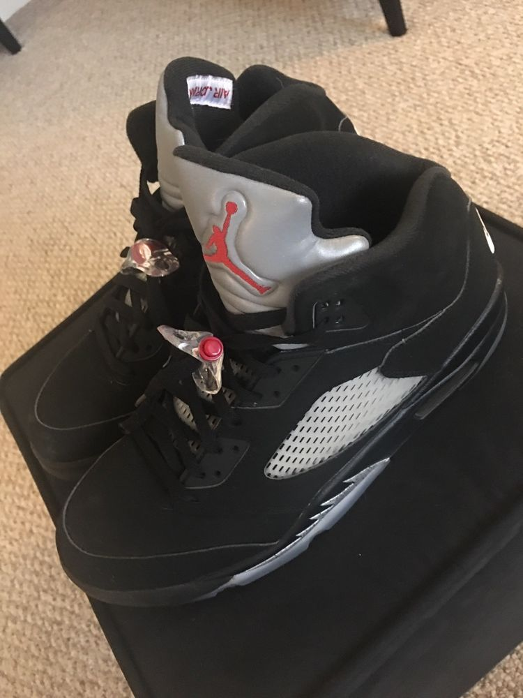 8dc4114567f9dc Nike Air Jordan 5 Black Metallic Silver 2016 w  Receipt V Retro OG 845035- 003 DS  fashion  clothing  shoes  accessories  mensshoes  athleticshoes  ad  (ebay ...