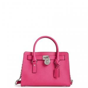 40 Off Michael Kors Satchel Medium Hamilton Saffiano Leather Raspberry 178 80