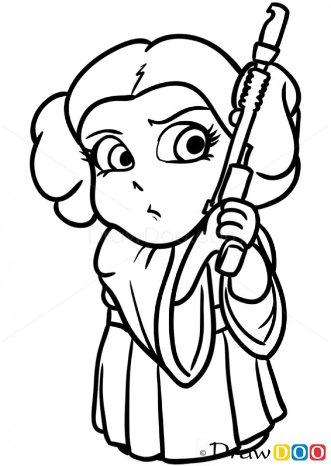How To Draw Princess Leya Chibi Star Wars How To Draw Drawing Ideas Draw Something Drawing Tutori Star Wars Drawings Star Wars Art Drawings Drawing Stars