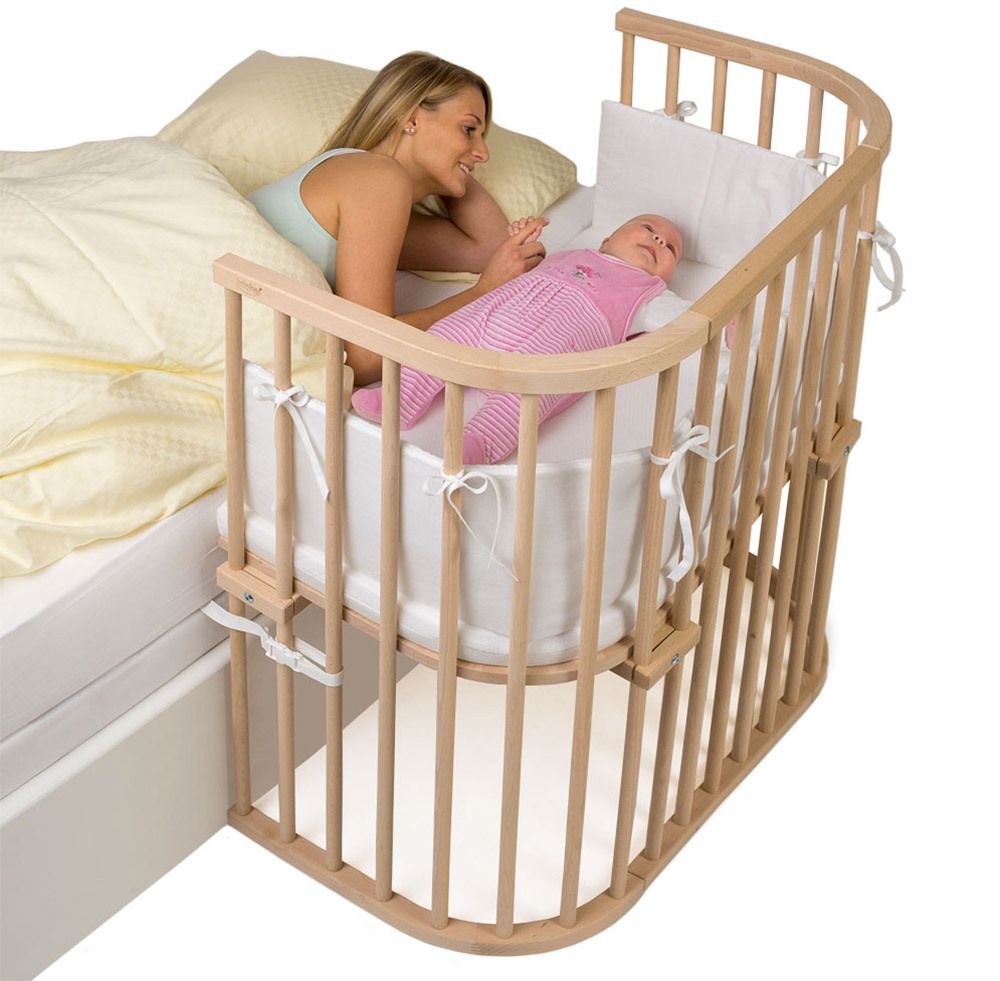 Babybay Convertible White Bedside Crib Bedside Bassinet Co Sleeping Cot