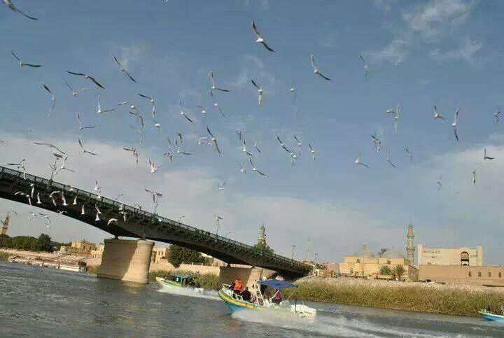Baghdad Tigris River God Bless Baghdad Iraq Baghdad Scenery