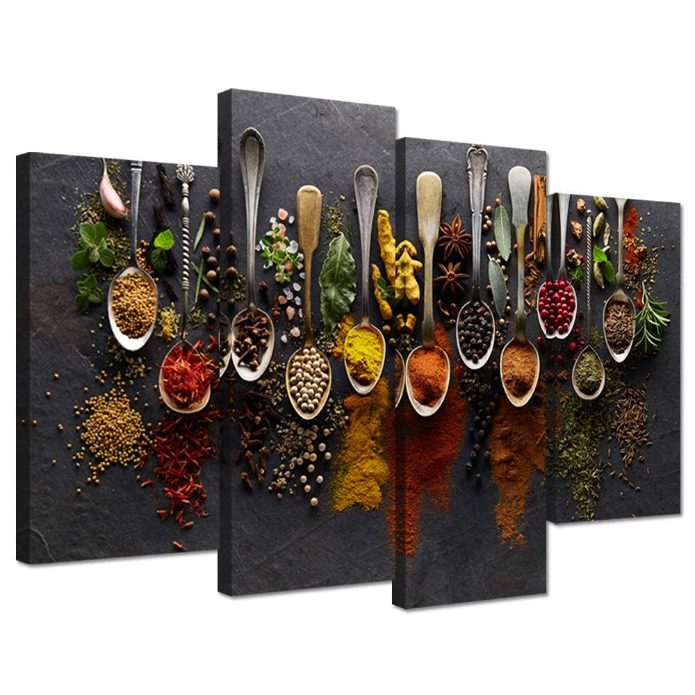 Ihappywall Kitchen Pictures Wall Decor 4 Pieces Couful Spice In