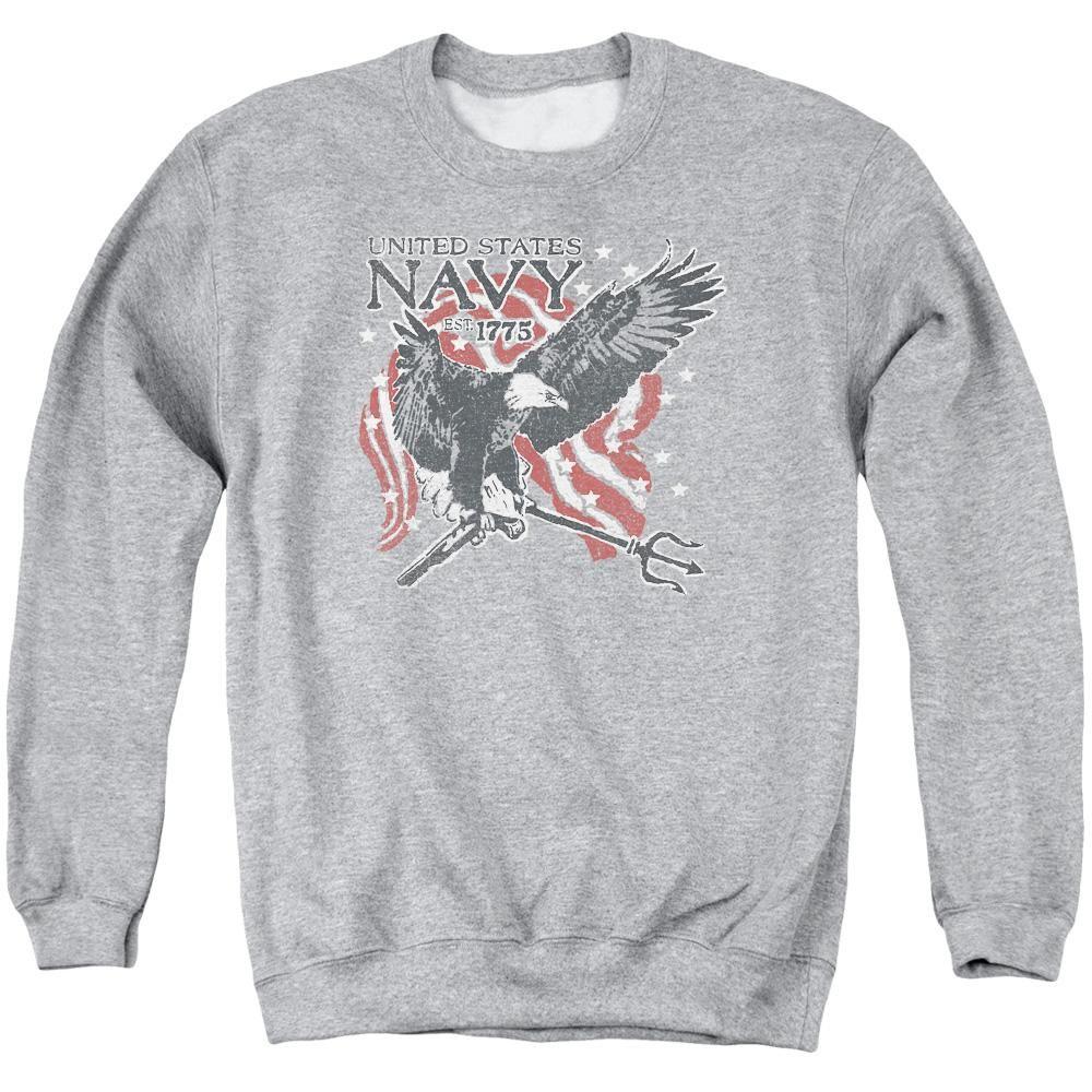 c645ad636 Navy - Trident Adult Crewneck Sweatshirt