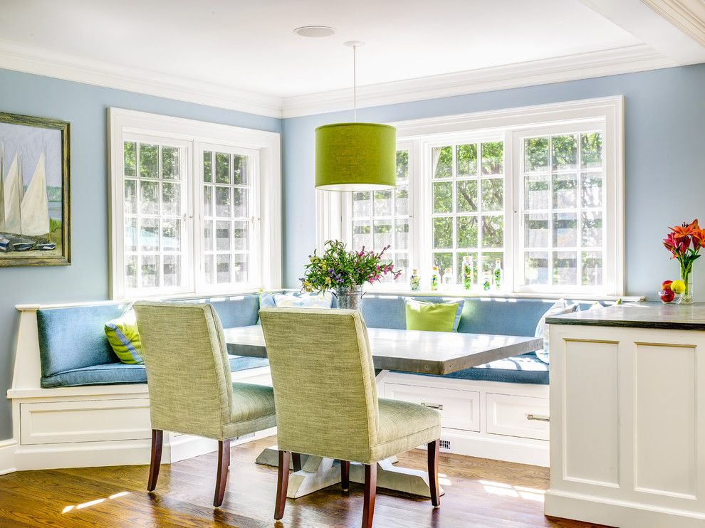 Wonderful Chic Banquette Vogue New York Traditional Dining Room Innovative Designs  With Banquette Seating Bench Seating Blue