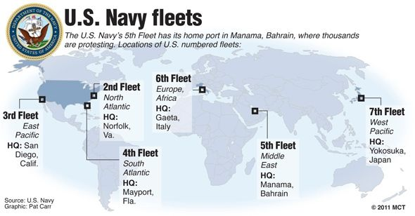Harbours of the US Navy Fleet | Geopolitics / Geopolitk | Us naval ...