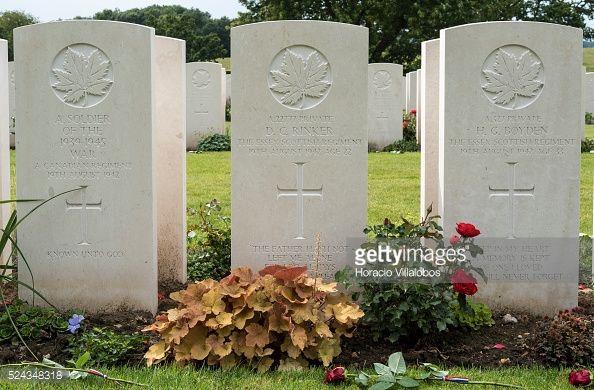 Photo d'actualité : Graves seen at Canadian War Cemetery near Dieppe,...