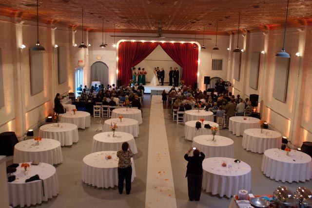 Ceremony Reception Same Room Idea Indoor Wedding