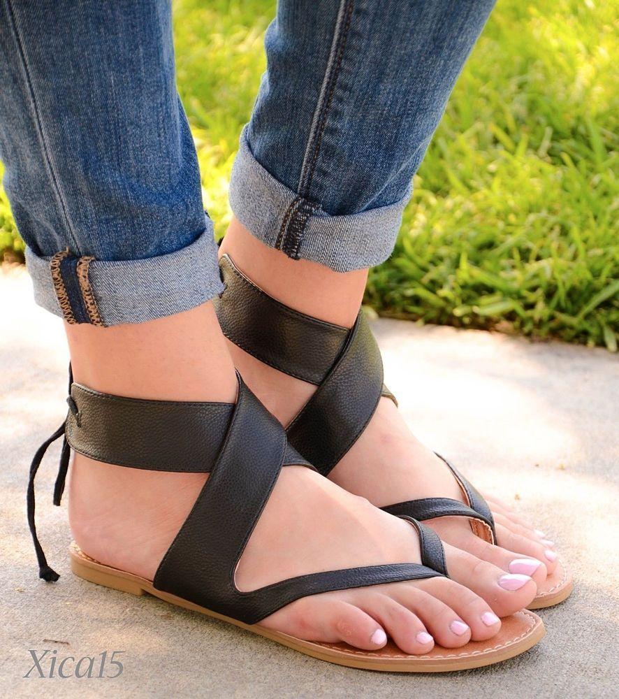 Womens Bobo Chic Gladiator Sandal - Gold - CB184RZQ647