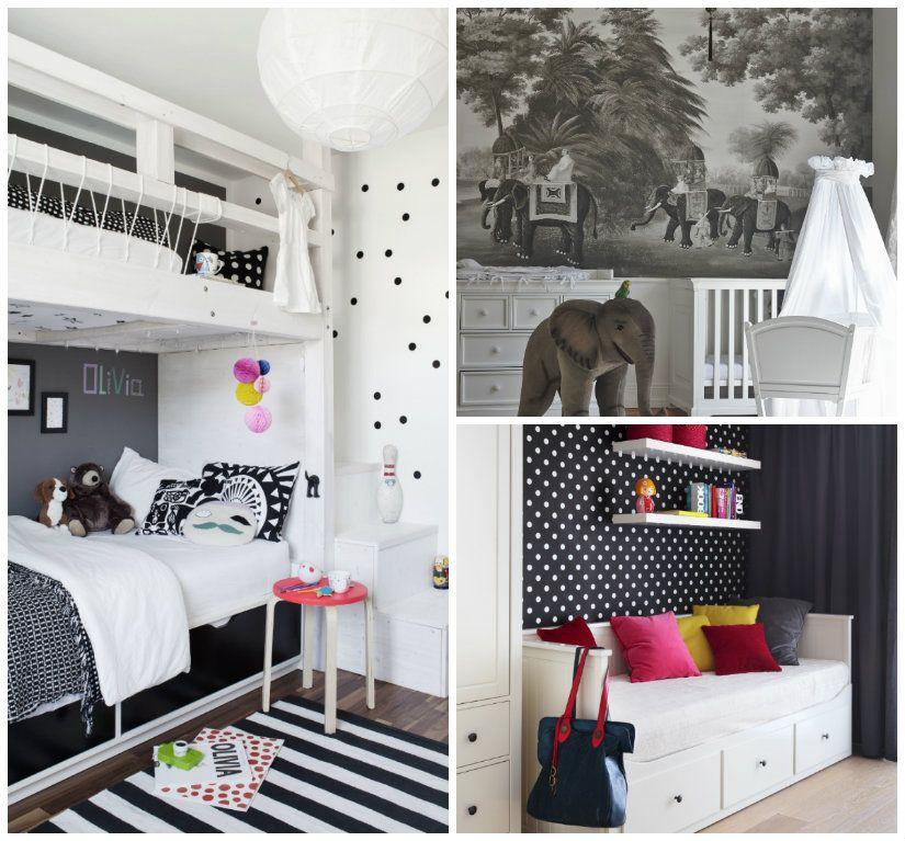 dormitorio en blanco y negro infantil | DECO | Pinterest ...