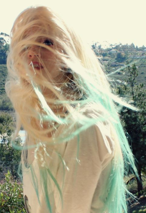 Dip Dyed Hair Turquoise Hair Dip Dye Hair Dyed Hair