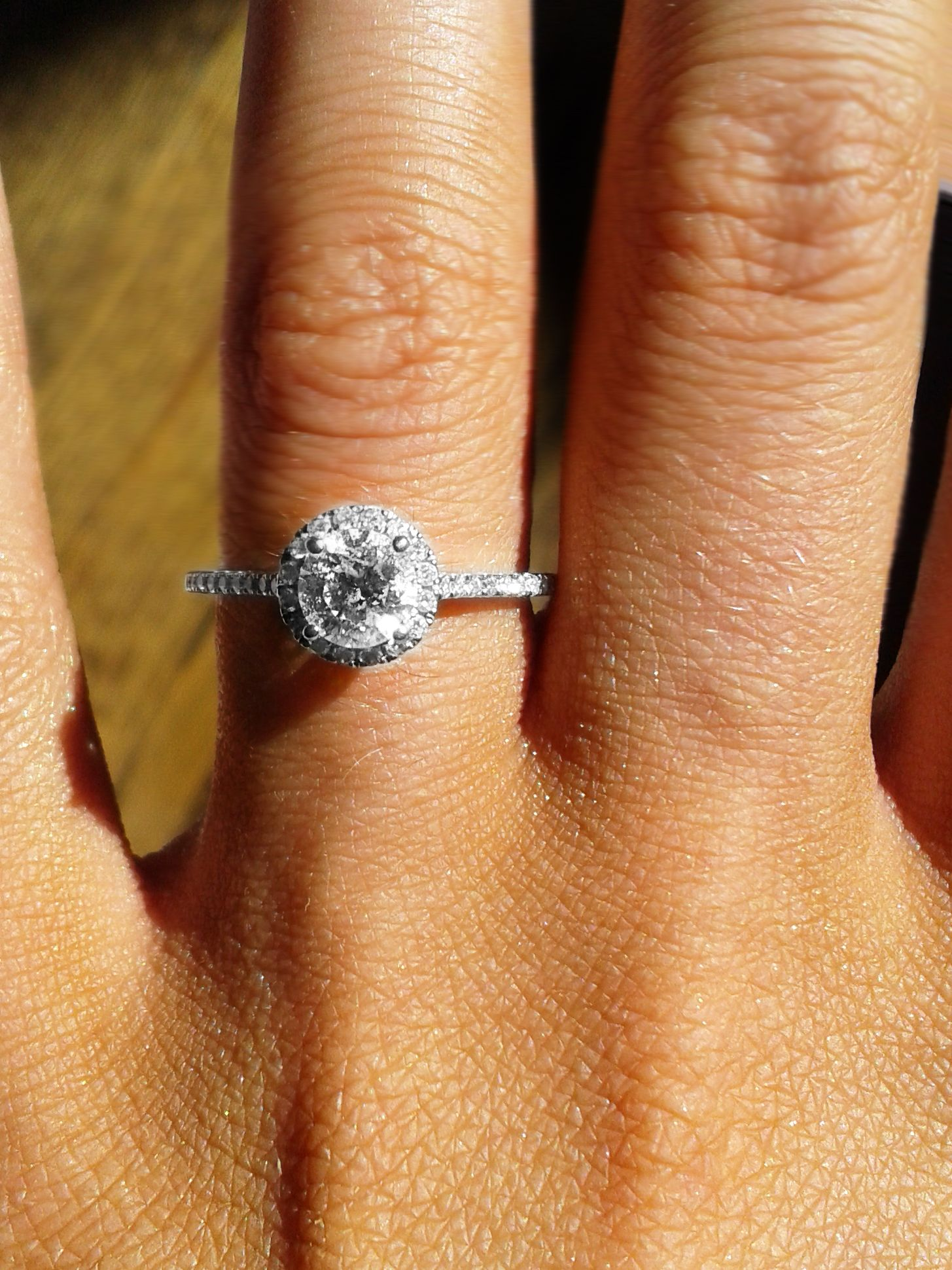 Round Cut Halo engagement ring Rogers Hollands Diamond