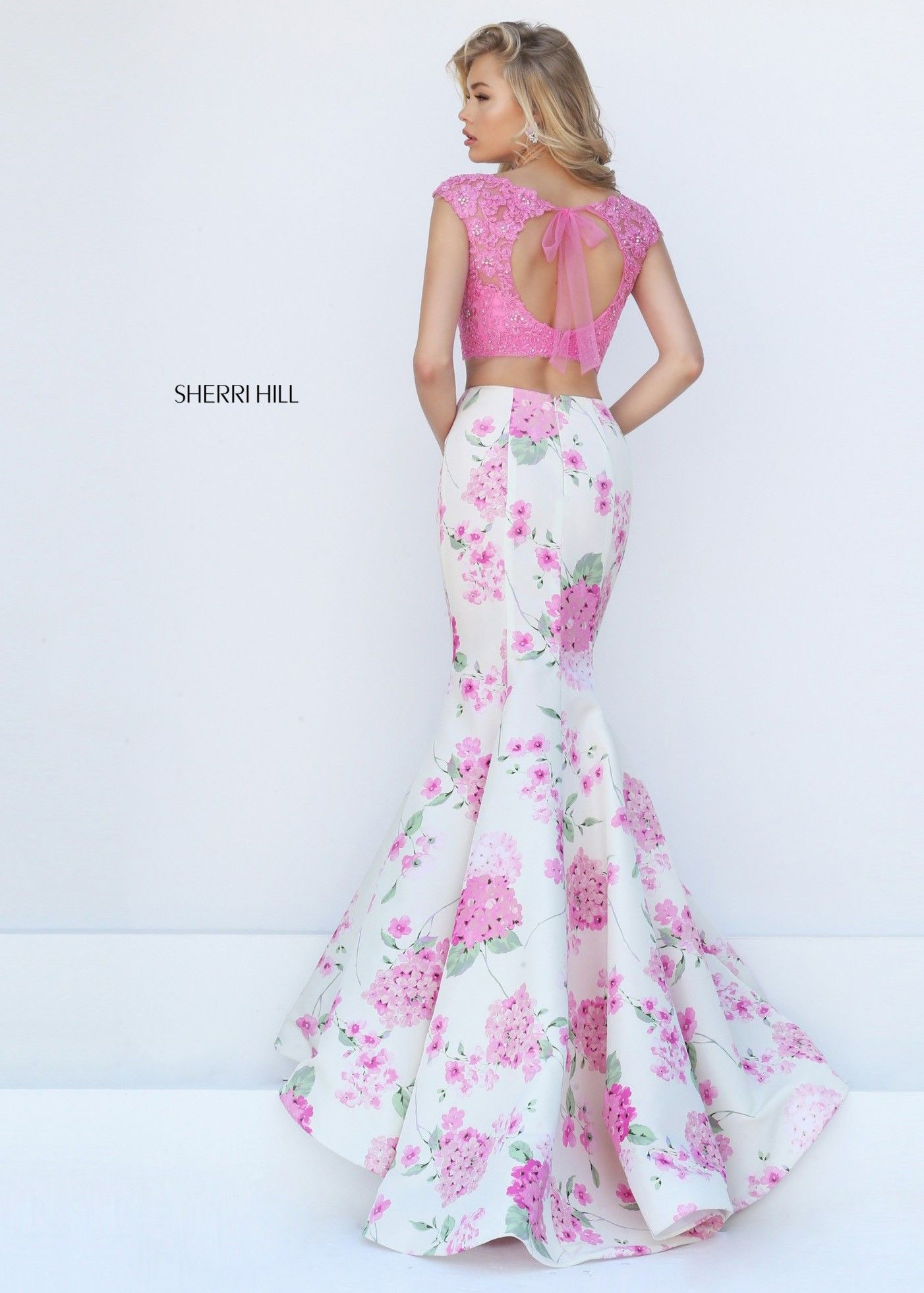 Sherri Hill 50435 Floral Beaded Lace Two Piece Mermaid. Mermaid Prom DressesHomecoming  ...