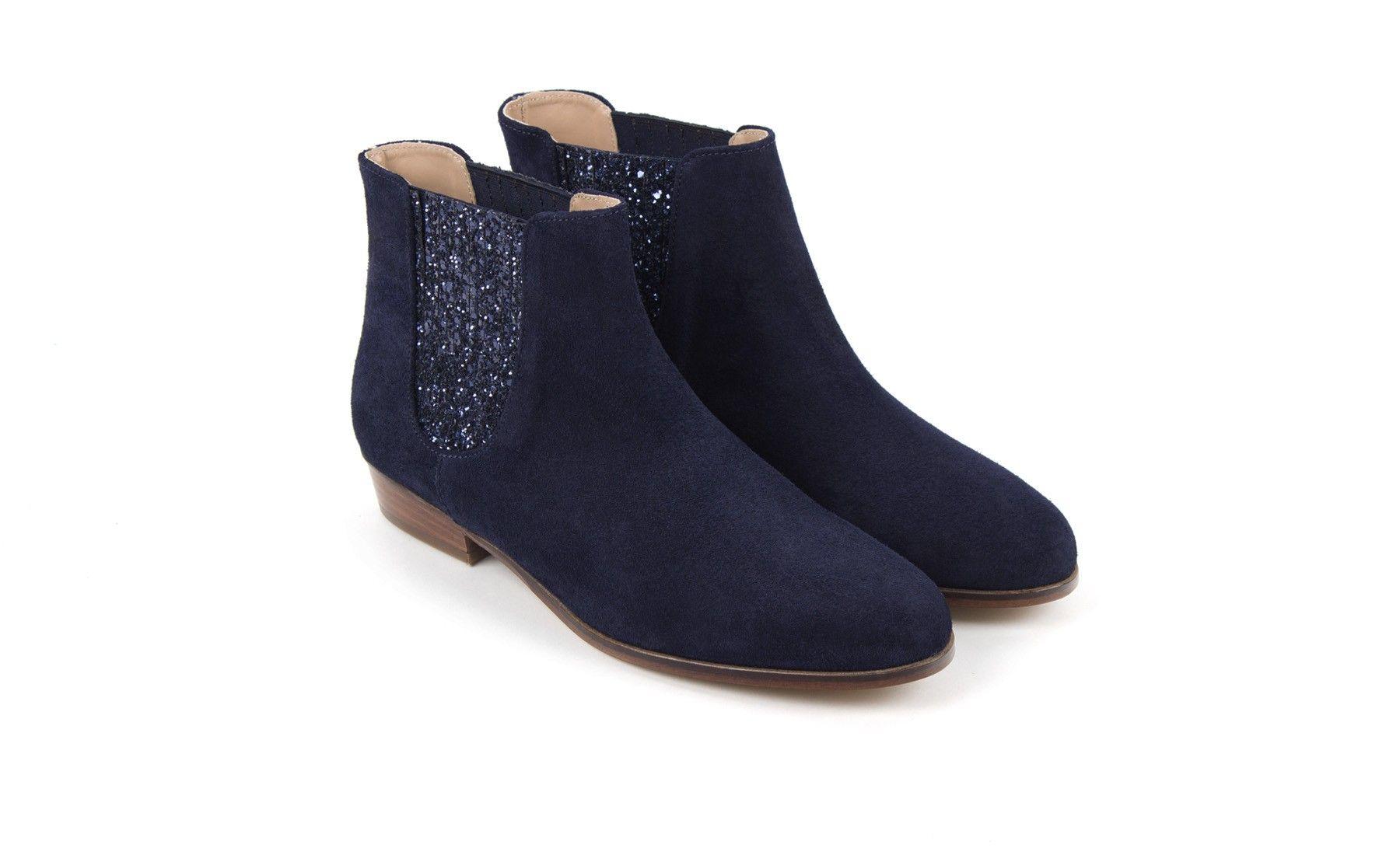bleu BobbiesWishlist Feerique boots La Chelsea marine VSUGqzMp