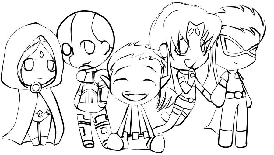 Teen Titans Coloring Pages Miscellaneous