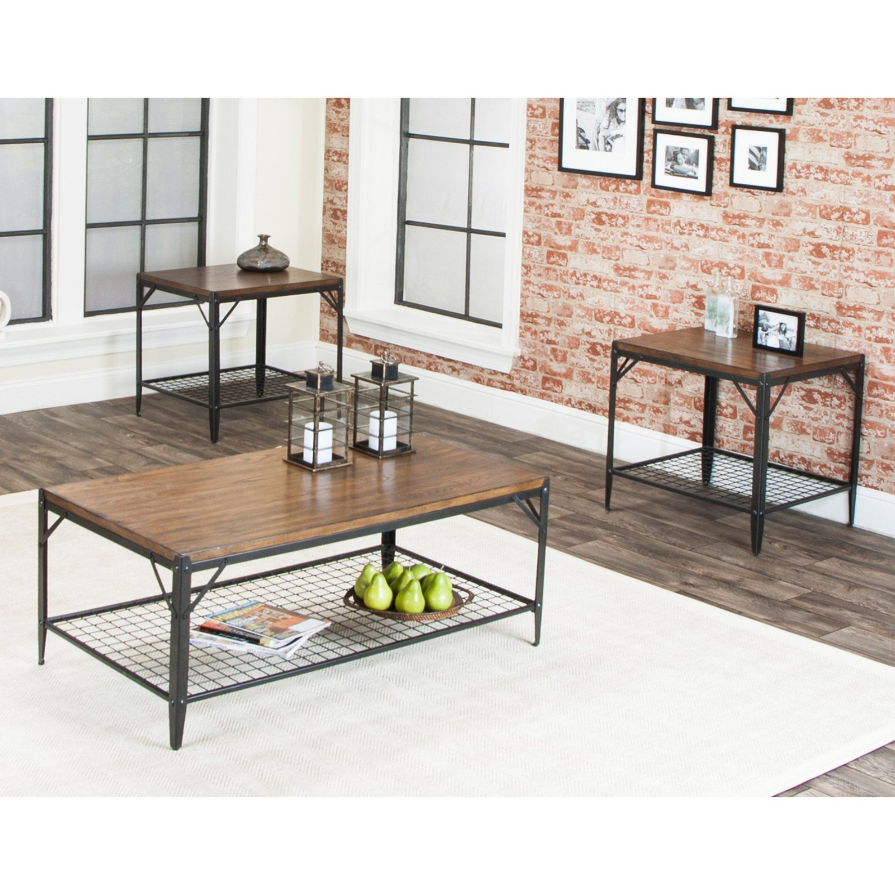 Sunset Trading Industry Standard 3 Piece Coffee Table Set - CR-W2770-90