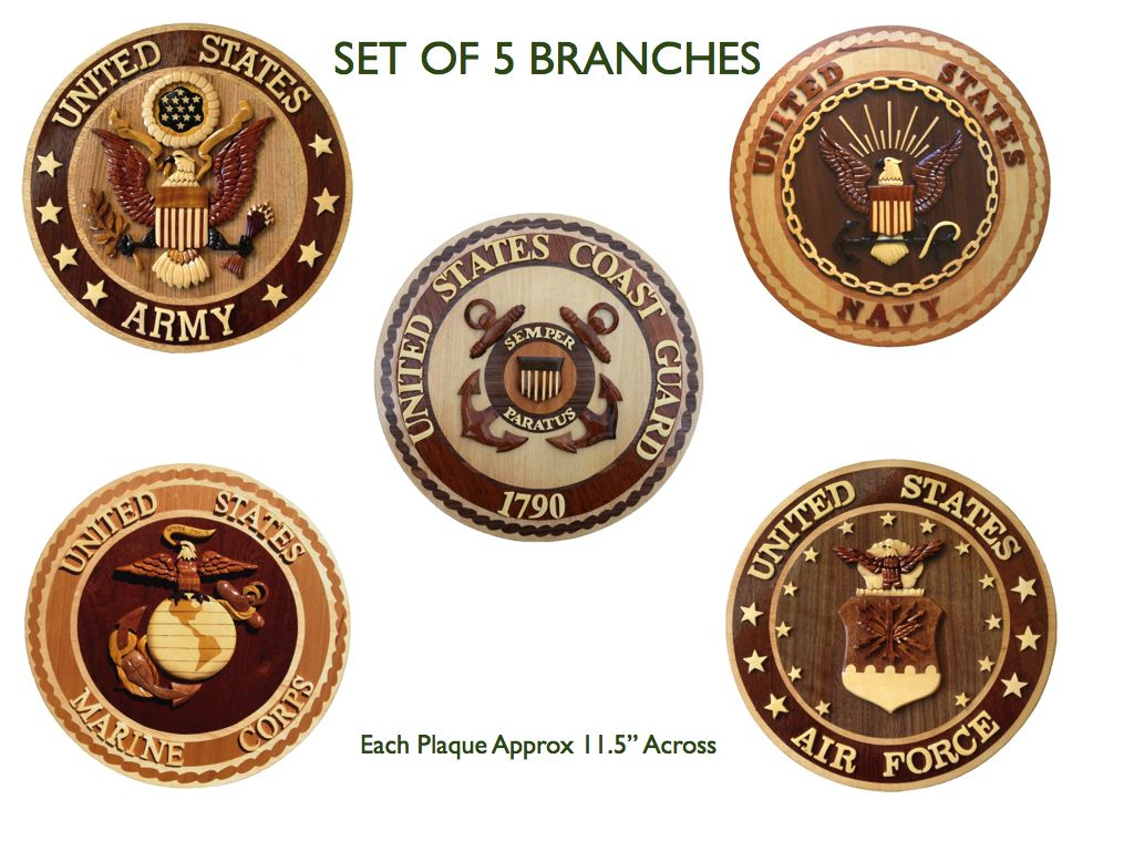 5 Military Branches The Emblems Ideas Pinterest Wooden