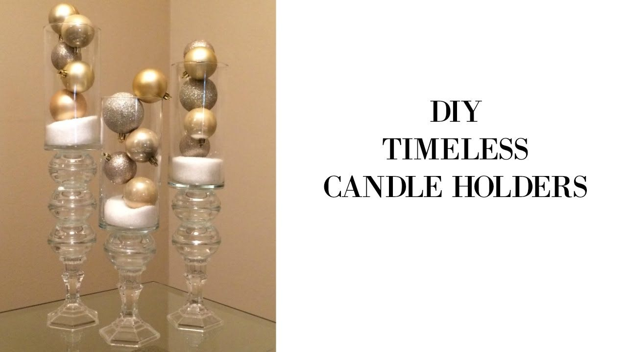Diy timeless candle holders using dollar tree supples candle