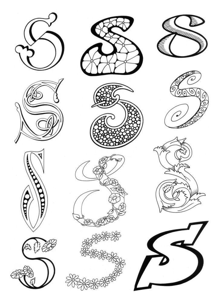 LETTER S | Artful Lettering | Pinterest | Fonts, Doodles ...
