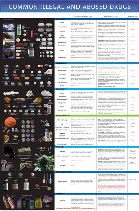 Your Handy Chart of Drug Stereotypes | Charts and Drugs