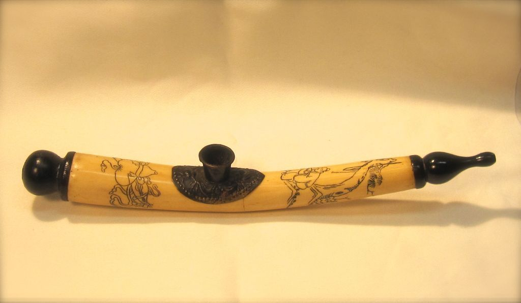appealing antique chinese bone opium pipe the lost art