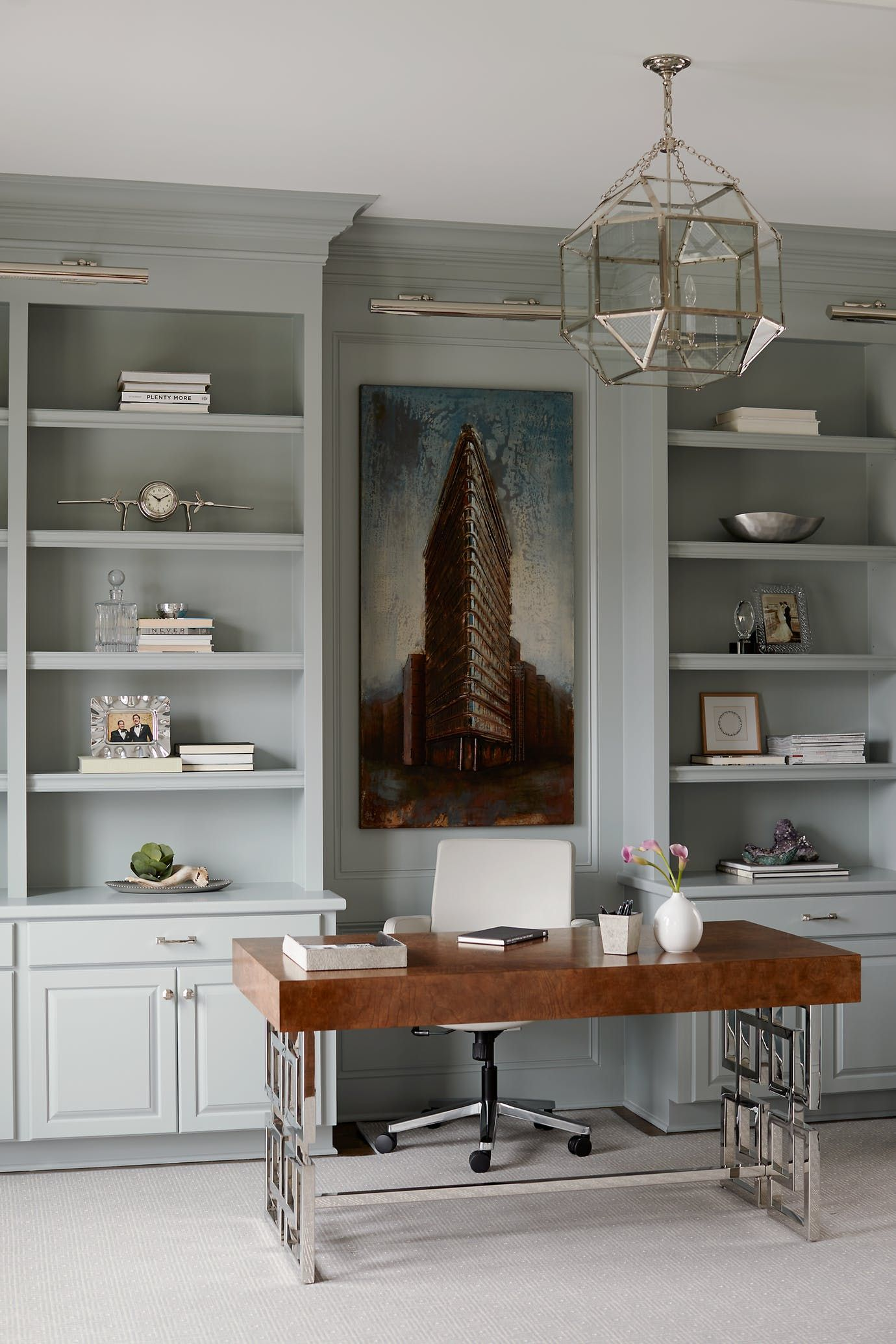 Office with custom bookshelves library home architectural detail details traditionalneoclassical transitional by kara cox interiors also reveal my man pinterest design rh