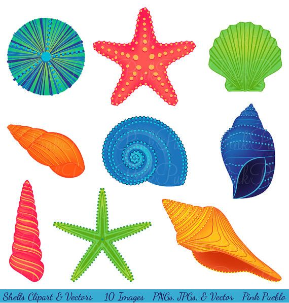 Shells Clipart Clip Art, Beach Ocean Travel Vacation Clip ...