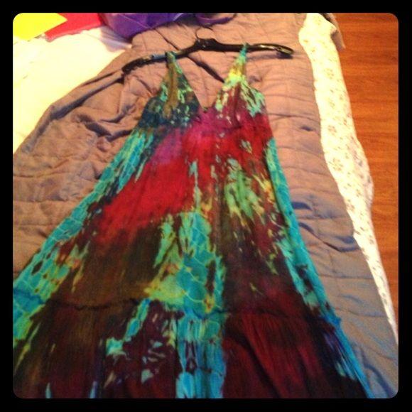 Tye dye dress Beautiful flowy colorful tye die dress Dresses Maxi