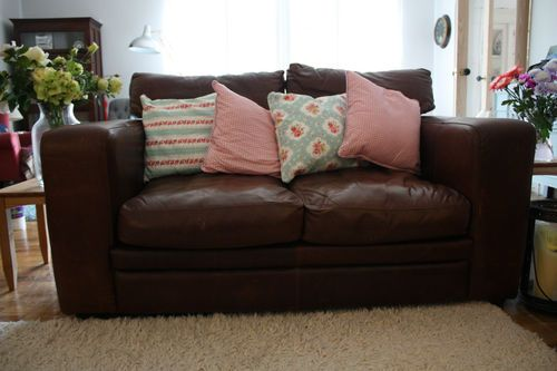 Amazing Vintage Shabby Chic Brown Italian Leather Sofa Ebay Squirreltailoven Fun Painted Chair Ideas Images Squirreltailovenorg
