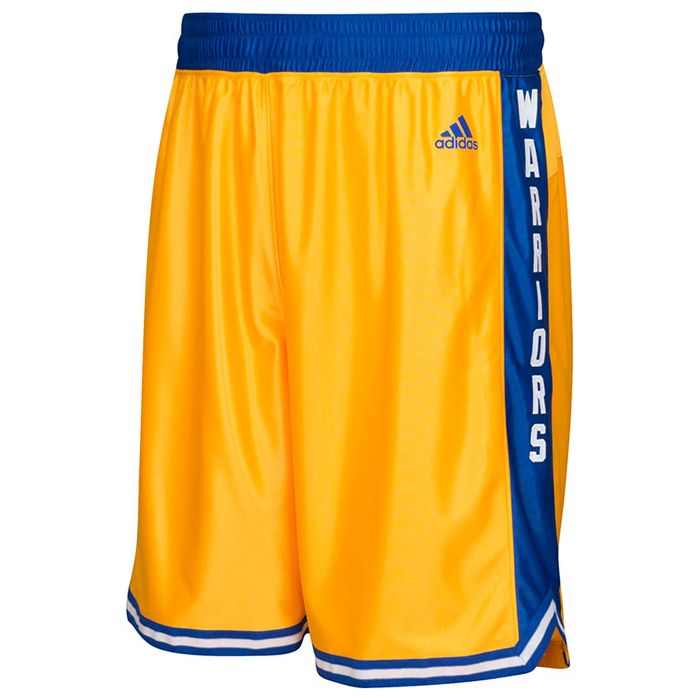 Golden State Warriors adidas Hardwood Classic Swingman Shorts Gold · Adidas WnbaKlassischKurze HoseStephen ...