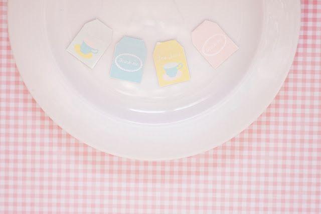 printable tea and dessert tags on the blog today!