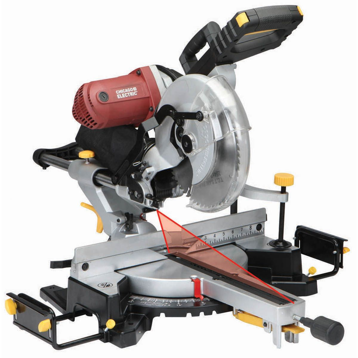 12 In Dual Bevel Sliding Compound Miter Saw With Laser Guide System Herramientas