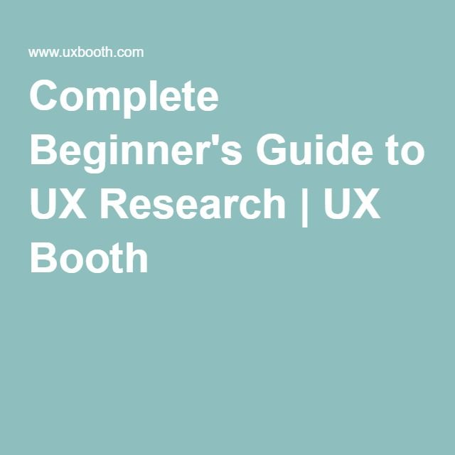 UX Booth - A User Experience Design Publication
