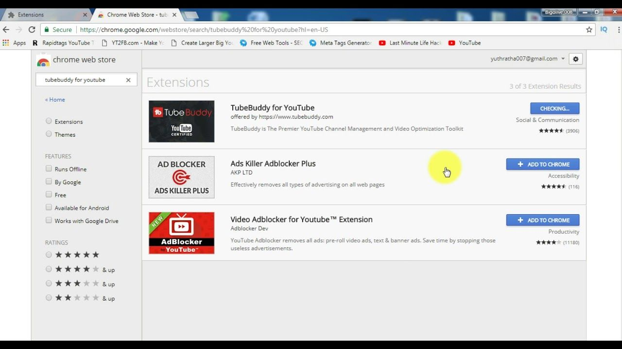 How To Install Tubebuddy For Youtube In Google Chrome Browser Chrome Apps Youtube Chrome Web