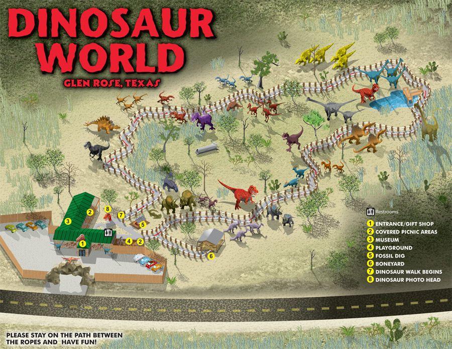 Map Of Texas Vacation Spots.Escapekeygraphics2 Dinosaur World Texas Map Escape Key Graphics