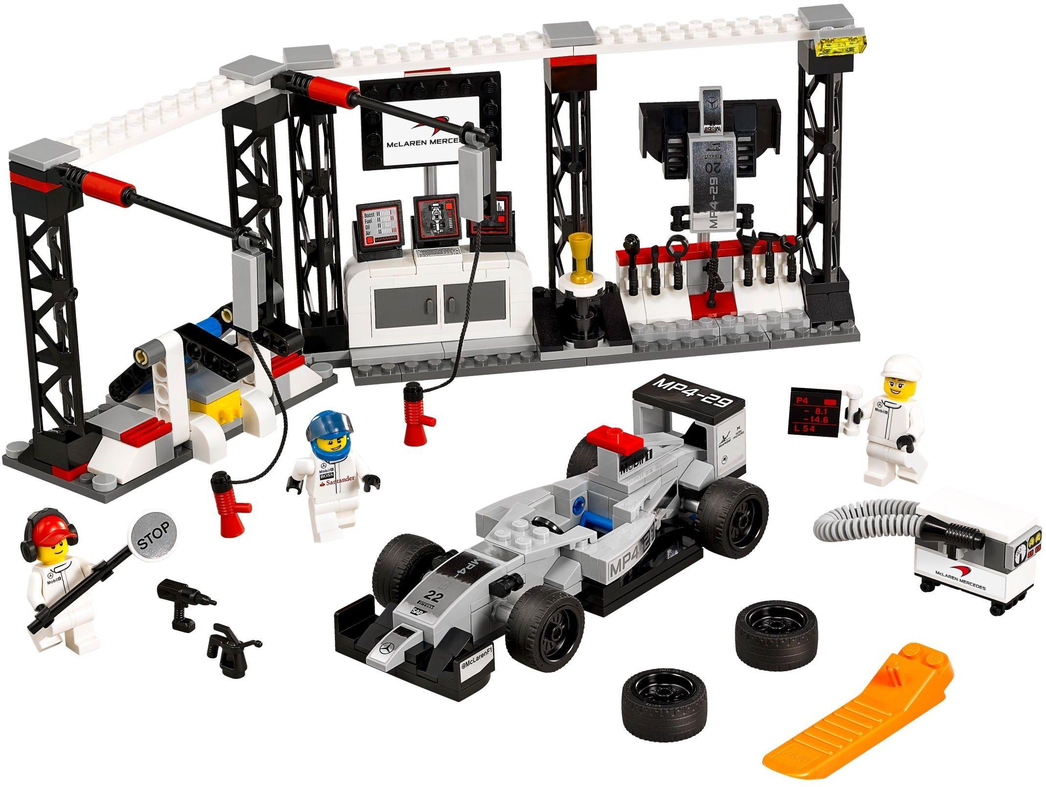 LEGO 75911 Speed Champions McLaren Mercedes Pit Stop - Wiki Brick