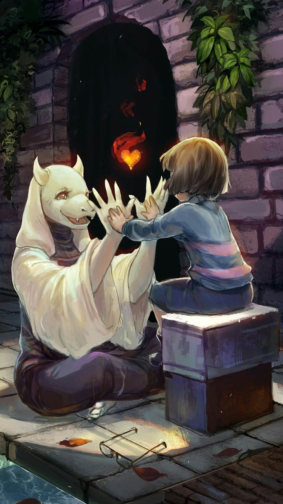 Toriel Frisk Undertale Undertale Undertale Fanart Anime