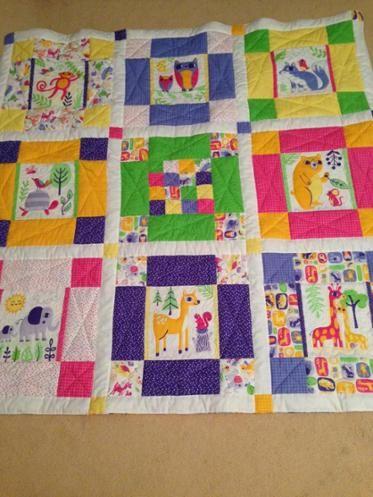 Zootastic baby blanket