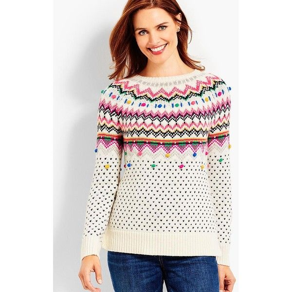 Talbots Women's Carnival Fair Isle Sweater found on Polyvore ...