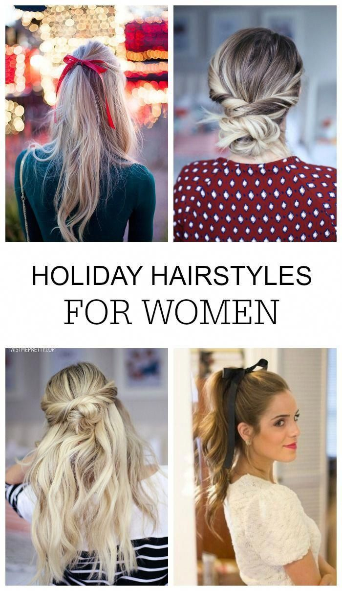Holiday Hairstyles for Women! Christmas, New Years, & Valentine's Day Festive Hair Ideas, Styles, & Trends - Half Up, Curls, Braids, and Bows for Medium to Long Hair! #lemonpeony #hairstyles #christmas #trends #holidays #longhair # blonde Braids beachy waves # blonde Braids beachy waves