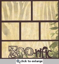 Zoo-fari: Zoo-rific 12 x 12 Overlay Quick Page Laser Die Cut