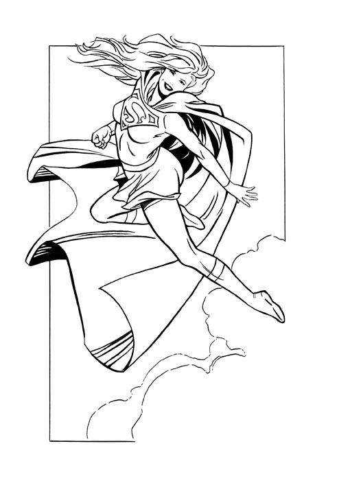 Supergirl comic colouring page | Coloring Pages | Pinterest ...