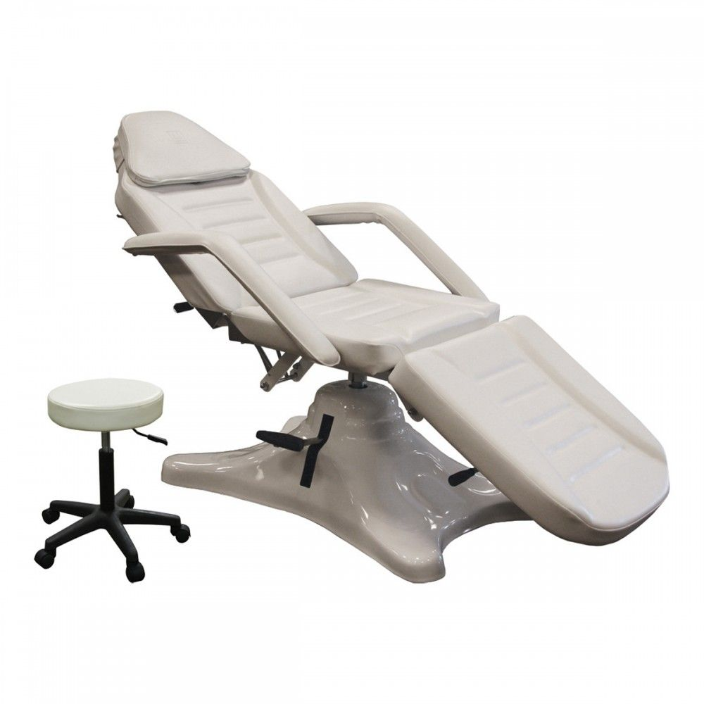 Hydraulic Facial Bed In Alpine White Beauty Treatment Room Massage Tables Chair