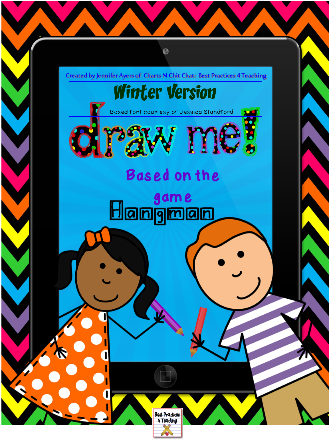 free draw me game, based on how Hangman works, winter
