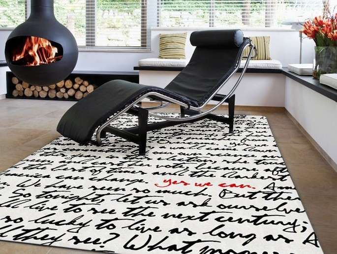 Tappeti moderni 2015 - Tappeto con scritte | Spaces and House
