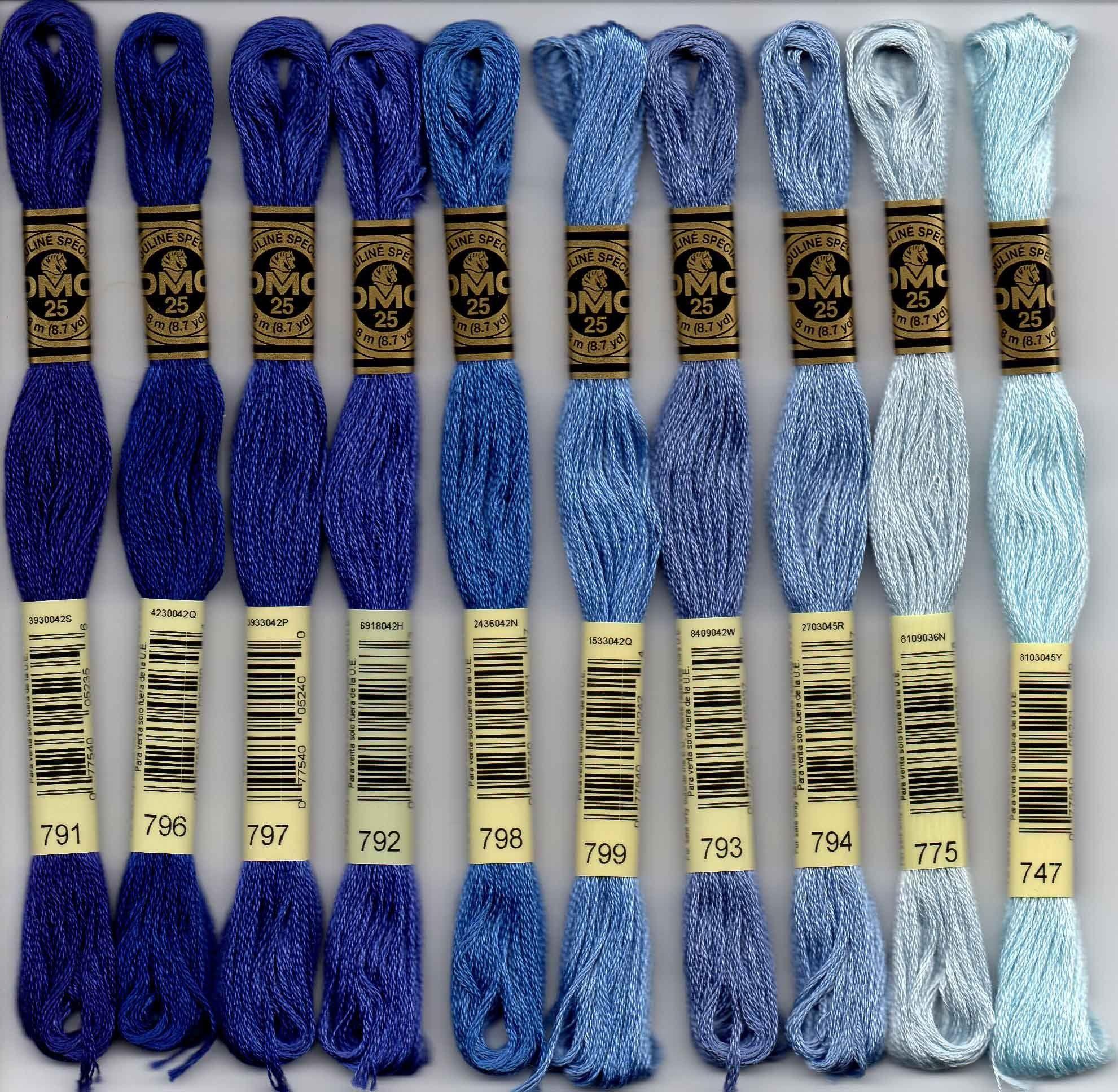 DMC embroidery floss - 700 series #embroideryfloss