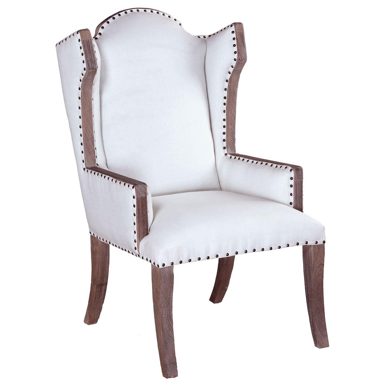 Sandel Library Wingback Nailhead Trim Chair on Chairish.com